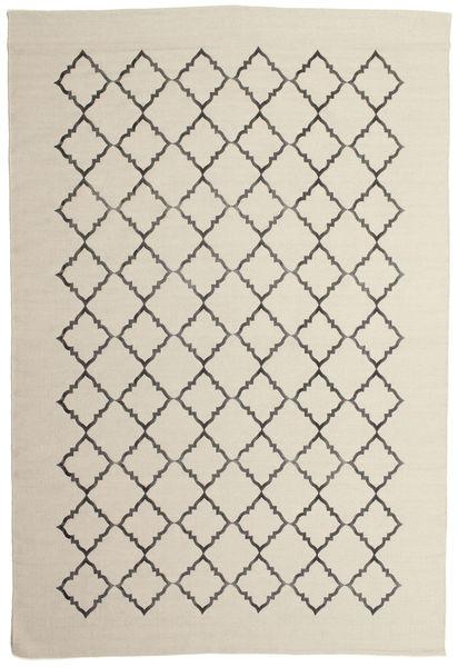 Marjorie - Prljavo Bijela Sag 200X300 Autentični  Moderni Ručno Tkani Tamna Bež/Svjetlosiva/Bež (Vuna, Indija)
