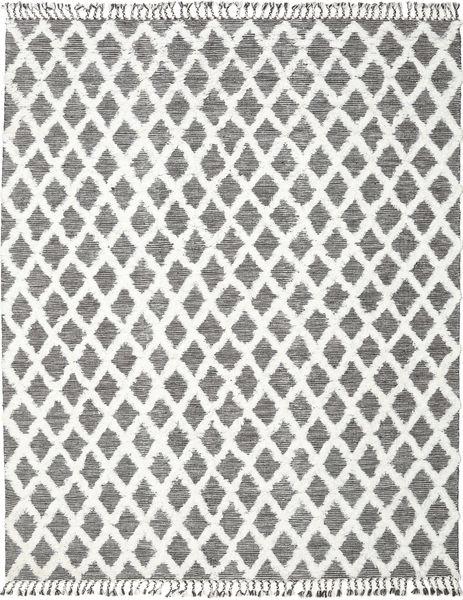 Inez - Dark_Brown/White Sag 200X300 Autentični  Moderni Ručno Tkani Svjetlosiva/Tamnosiva (Vuna, Indija)