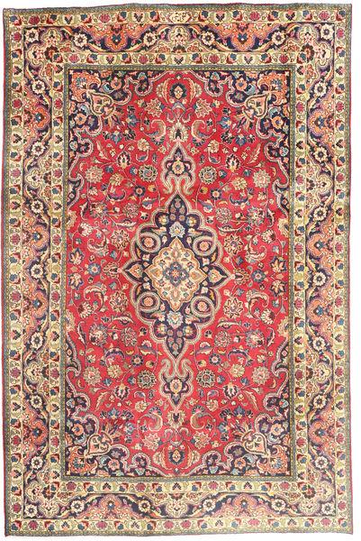 Tabriz Sag 194X290 Autentični  Orijentalni Ručno Uzlan Hrđavo Crvena/Tamnosiva (Vuna, Perzija/Iran)