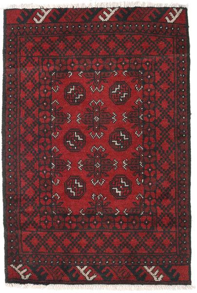 Afghan Sag 78X115 Autentični  Orijentalni Ručno Uzlan Tamnocrvena/Crna (Vuna, Afganistan)