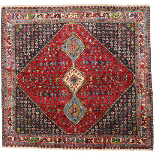 Yalameh Sag 192X200 Autentični  Orijentalni Ručno Uzlan Kvadratni Tamnocrvena/Tamnosmeđa (Vuna, Perzija/Iran)