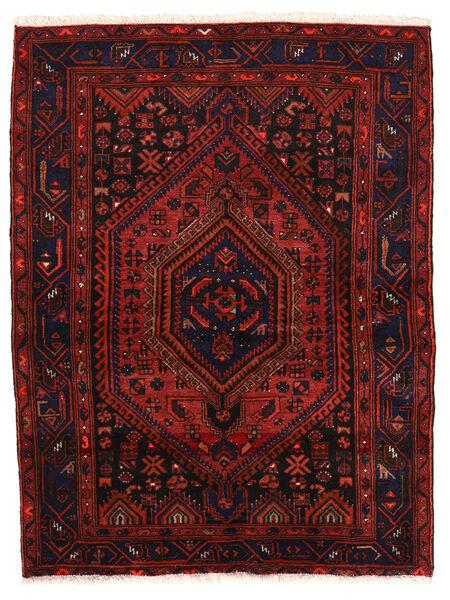 Zanjan Sag 142X190 Autentični  Orijentalni Ručno Uzlan Tamnocrvena (Vuna, Perzija/Iran)