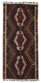Ćilim Malatya Sag 186X391 Autentični  Orijentalni Ručno Tkani Tamnosmeđa/Svjetlosmeđa (Vuna, Turska)