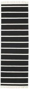 Sag Stripe - Crna/White Sag 80X250 Autentični  Moderni Ručno Tkani Staza Za Hodnik  Crna/Bijela/Krem (Vuna, Indija)