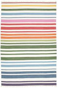 Rainbow Stripe - White Sag 200X300 Autentični  Moderni Ručno Tkani Bijela/Krem (Pamuk, Indija)