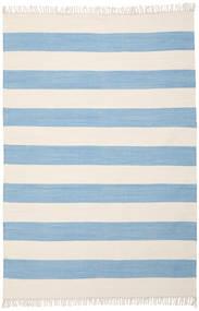 Cotton Stripe - Svjetla Plava Sag 160X230 Autentični  Moderni Ručno Tkani Svjetloplava/Bež (Pamuk, Indija)