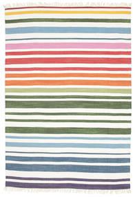 Rainbow Stripe - White Sag 160X230 Autentični  Moderni Ručno Tkani Bijela/Krem (Pamuk, Indija)