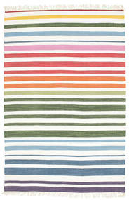 Rainbow Stripe - White Sag 140X200 Autentični  Moderni Ručno Tkani Bijela/Krem/Bež (Pamuk, Indija)