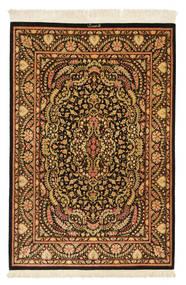 Ghom Svila Potpisan: Ghom Mohammadi Sag 101X150 Autentični Orijentalni Ručno Uzlan Tamnosmeđa/Smeđa (Svila, Perzija/Iran)