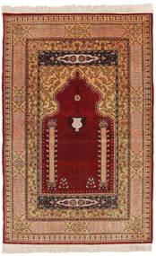 Herike Tu Sag 82X130 Autentični Orijentalni Ručno Uzlan Tamnocrvena/Svjetlosmeđa (Svila, Turska)