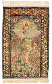 Isfahan Slikoviti Potpisan: Haghighi Sag 163X230 Autentični Orijentalni Ručno Uzlan Smeđa/Bež (Vuna/Svila, Perzija/Iran)