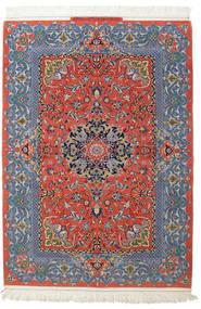 Isfahan Svileni Navoji Potpisan: Haghighi Sag 150X220 Autentični  Orijentalni Ručno Uzlan Tamnosiva/Tamnocrvena (Vuna/Svila, Perzija/Iran)