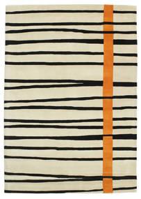 Gummi Twist Handtufted - Narandžasta Sag 160X230 Moderni Tamna Bež/Bež/Crna (Vuna, Indija)
