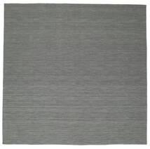 Ćilim Loom - Tamnosiva Sag 300X300 Autentični  Moderni Ručno Tkani Kvadratni Tamnozelena/Svjetlosiva Veliki (Vuna, Indija)