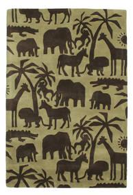 Africa Handtufted Sag 120X180 Moderni Tamnosmeđa/Maslinasto Zelena/Svjetlozelena (Vuna, Indija)