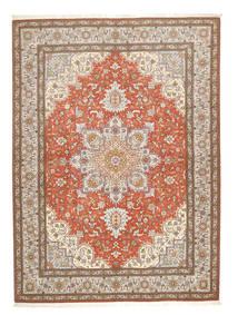 Tabriz 50 Raj Sag 150X208 Autentični  Orijentalni Ručno Uzlan Svjetlosiva/Smeđa (Vuna/Svila, Perzija/Iran)