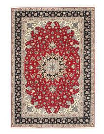 Tabriz 50 Raj Svileni Navoji Sag 200X310 Autentični  Orijentalni Ručno Uzlan Svjetlosiva/Tamnosiva (Vuna/Svila, Perzija/Iran)