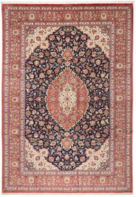 Ghom Svila Sag 240X348 Autentični Orijentalni Ručno Uzlan Smeđa/Bež (Svila, Perzija/Iran)