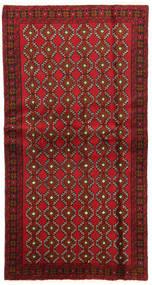 Beluch Sag 100X191 Autentični  Orijentalni Ručno Uzlan Tamnocrvena/Tamnosmeđa (Vuna, Perzija/Iran)