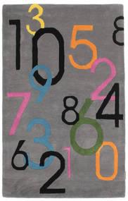 Lucky Numbers - Siva Sag 100X160 Moderni Tamnosmeđa/Tamnosiva (Vuna, Indija)