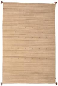 Loribaf Loom Sag 193X292 Autentični Moderni Ručno Uzlan Tamna Bež/Bež (Vuna, Indija)