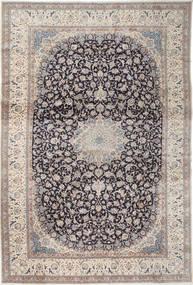 Nain 9La Sag 408X610 Autentični  Orijentalni Ručno Uzlan Svjetlosiva/Tamnosiva Veliki (Vuna/Svila, Perzija/Iran)