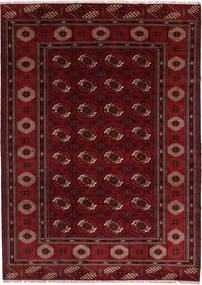 Turkaman Sag 208X287 Autentični Orijentalni Ručno Uzlan Tamnocrvena/Tamnosmeđa (Vuna, Perzija/Iran)
