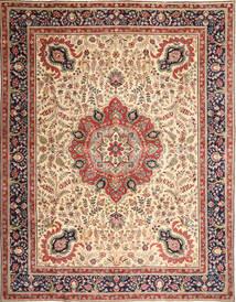 Tabriz Patine Sag 305X390 Autentični Orijentalni Ručno Uzlan Svjetlosmeđa/Bež Veliki (Vuna, Perzija/Iran)