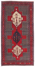 Senneh Patine Sag 145X299 Autentični  Orijentalni Ručno Uzlan Tamnosmeđa/Grimizno Crvena (Vuna, Perzija/Iran)