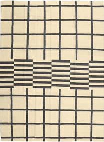 Ćilim Moderni Sag 210X285 Autentični  Moderni Ručno Tkani Bež/Crna (Vuna, Afganistan)