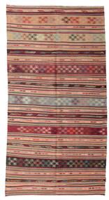 Ćilim Polu Antički Turski Sag 153X289 Autentični Orijentalni Ručno Tkani Tamnocrvena/Svjetlosmeđa (Vuna, Turska)