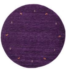 Gabbeh Loom Two Lines - Purple Sag Ø 150 Moderni Okrugli Tamnoljubičasta (Vuna, Indija)