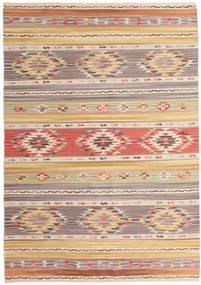 Ćilim Nimrud Sag 160X230 Autentični Moderni Ručno Tkani Svjetlosiva/Tamna Bež (Vuna, Indija)