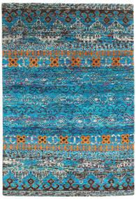 Quito - Tirkizna Sag 160X230 Autentični Moderni Ručno Uzlan Tirkizno Plava/Tamnosiva (Svila, Indija)
