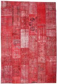 Patchwork Sag 201X296 Autentični Moderni Ručno Uzlan Grimizno Crvena/Hrđavo Crvena (Vuna, Turska)