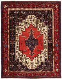 Senneh Patine Sag 120X155 Autentični  Orijentalni Ručno Uzlan Tamnocrvena/Tamnosmeđa (Vuna, Perzija/Iran)