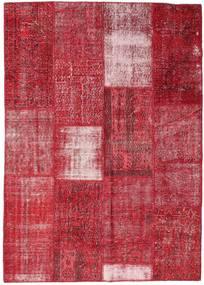 Patchwork Sag 160X226 Autentični  Moderni Ručno Uzlan Grimizno Crvena/Hrđavo Crvena (Vuna, Turska)