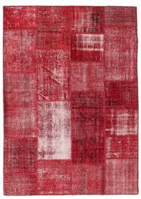 Patchwork Sag 163X229 Autentični  Moderni Ručno Uzlan Grimizno Crvena/Tamnocrvena (Vuna, Turska)