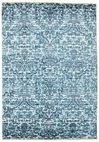 Damask Sag 170X244 Autentični  Moderni Ručno Uzlan Svjetloplava/Plava ( Indija)