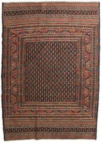 Ćilim Golbarjasta Sag 132X188 Autentični Orijentalni Ručno Tkani Tamnosmeđa/Smeđa (Vuna, Afganistan)