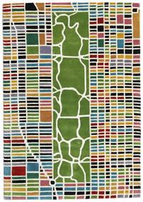 New-York/Manhattan Handtufted - Multi Sag 140X200 Moderni Bež/Maslinasto Zelena (Vuna, Indija)