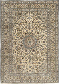 Keshan Patine Sag 242X350 Autentični  Orijentalni Ručno Uzlan Svjetlosiva/Svjetlosmeđa (Vuna, Perzija/Iran)
