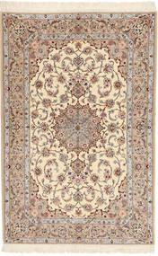 Isfahan Svileni Navoji Davudi Sag 130X202 Autentični  Orijentalni Ručno Uzlan Bež/Svjetlosiva (Vuna/Svila, Perzija/Iran)