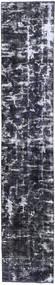 Obojeni Vintage Sag 70X380 Autentični Moderni Ručno Uzlan Staza Za Hodnik Tamnosiva/Svjetlosiva (Vuna, Perzija/Iran)