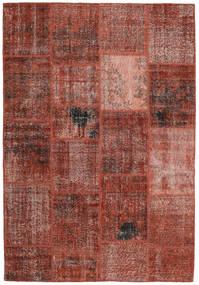 Patchwork Sag 159X232 Autentični  Moderni Ručno Uzlan Tamnocrvena/Svjetlosmeđa (Vuna, Turska)