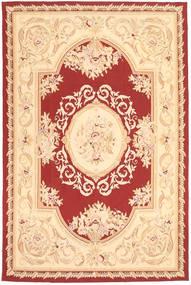 Aubouson Sag 184X281 Autentični Orijentalni Ručno Uzlan Tamna Bež/Bež/Tamnocrvena (Vuna, Kina)