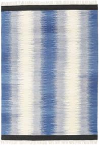Ikat - Plava Sag 160X230 Autentični  Moderni Ručno Tkani Plava/Bež (Vuna, Indija)