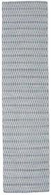 Ćilim Long Stitch - Plava Sag 80X340 Autentični  Moderni Ručno Tkani Staza Za Hodnik  Svjetlosiva/Svjetloplava (Vuna, Indija)