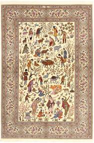 Ilam Sherkat Farsh Svila Sag 150X220 Autentični  Orijentalni Ručno Uzlan Bež/Smeđa/Svjetlosmeđa (Vuna/Svila, Perzija/Iran)