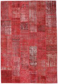 Patchwork Sag 204X302 Autentični  Moderni Ručno Uzlan Tamnocrvena/Grimizno Crvena (Vuna, Turska)